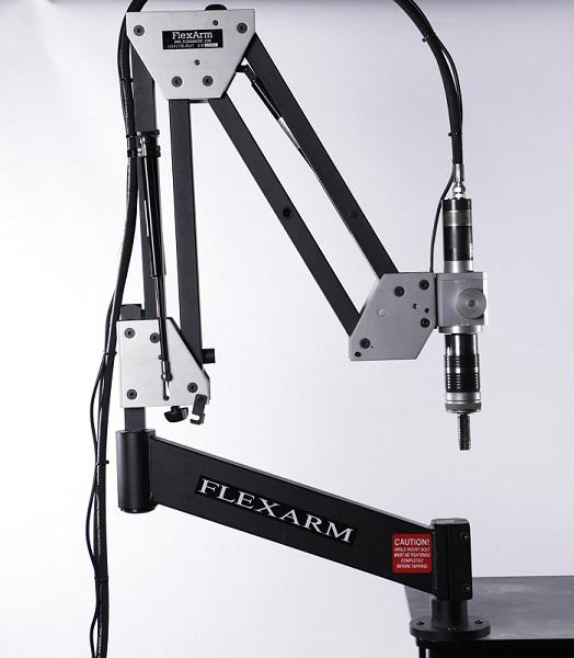 FlexArm GH-45 hydraulic tapping arm allows operators to