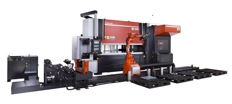 HG ARs from Amada combines bending robot, press brake, tool