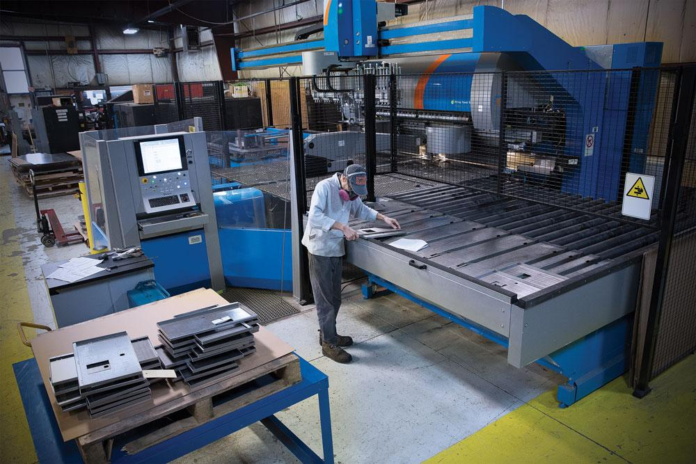 Sheet metal fab shop uses nesting software for material