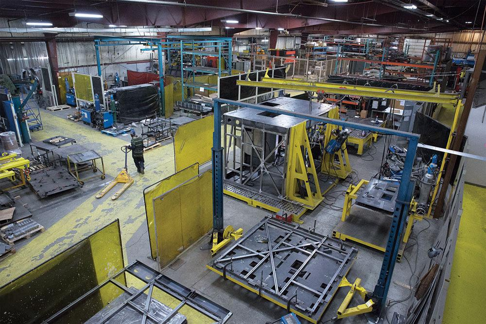 Sheet metal fab shop uses nesting software for material optimization