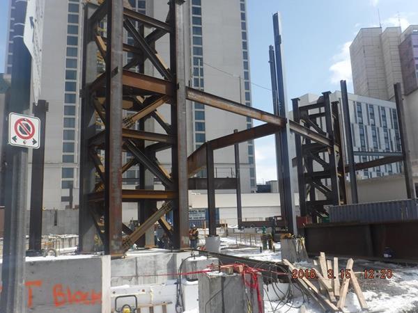 Supermétal erecting first steel at the new Niagara Falls